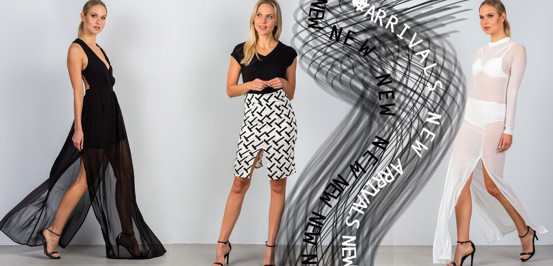 Wholesale Trendy Black White Apparel New Arrivals